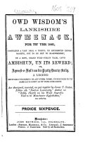 Owd Wisdom s Lankishire Awmlnack for th Yer 1861     aw desoigned  invented  un put together by James T  Staton  etc   With illustrations