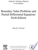 Student Solutions Manual, Boundary Value Problems