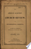 The American Quarterly Church Review And Ecclesiastical Register