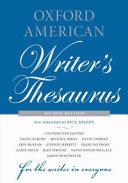 Oxford American Writer s Thesaurus
