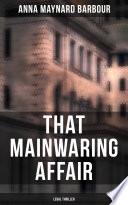 That Mainwaring Affair  Legal Thriller