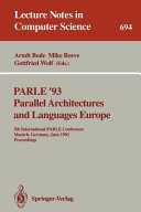 PARLE  93 Parallel Architectures and Languages Europe