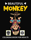Beautiful Monkey Coloring Book For Adults