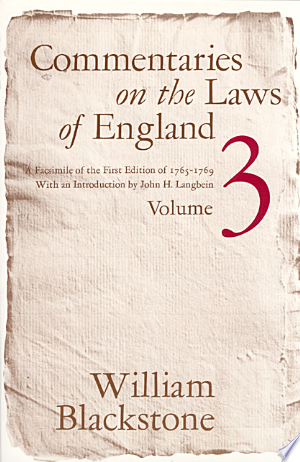 Download Commentaries on the Laws of England, Volume 3 Free Books - Read Books
