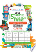 Oswaal CBSE Sample Question Papers Class 12 Geography (For March 2020 Exam)