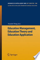 Education Management  Education Theory and Education Application Book