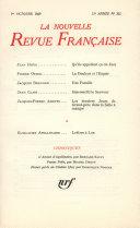 La Nouvelle Revue Française n° 202 (Octobre 1969)