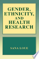 Gender Ethnicity And Health Research Book PDF