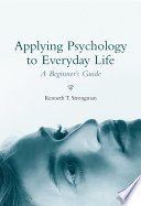 Applying Psychology to Everyday Life Book