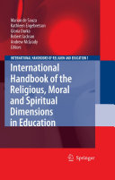 Pdf International Handbook of the Religious, Moral and Spiritual Dimensions in Education Telecharger