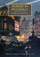 Murder in Piccadilly Pdf/ePub eBook