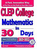 CLEP College Mathematics in 30 Days Pdf/ePub eBook