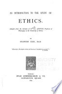 An Introduction to the Study of Ethics