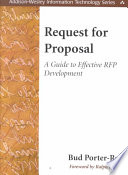 Request for Proposal  : A Guide to Effective RFP Development
