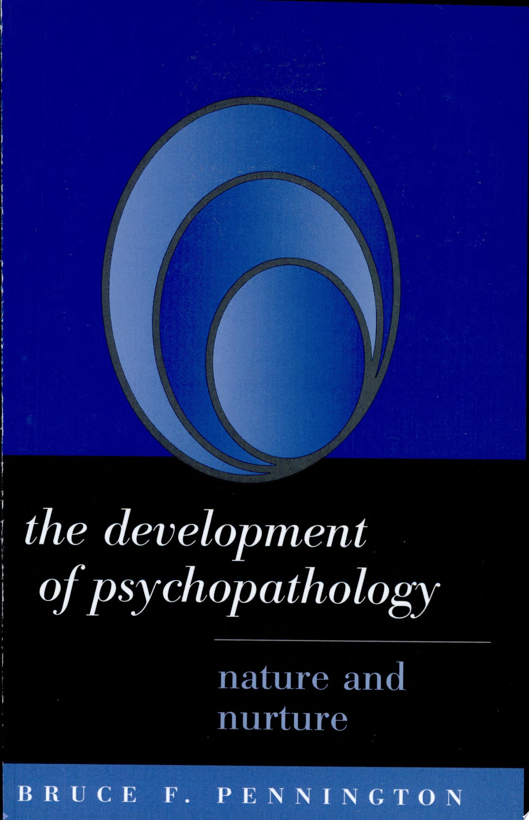The Development of Psychopathology
