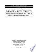 Ordenes monásticas y archivos de la Iglesia