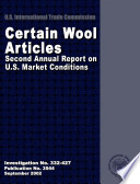 Certain Wool Articles Second Annual Report on U S  Market Conditions  Inv  332 427