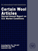 Pdf Certain Wool Articles Second Annual Report on U.S. Market Conditions, Inv. 332-427