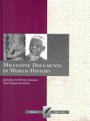 Milestone Documents In World History 1082 1833