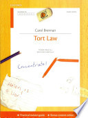 Tort Law Concentrate  : Law Revision and Study Guide