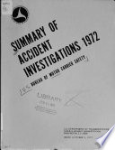 Summary Of Accident Investigations Book PDF