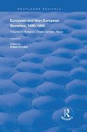 European and Non European Societies  1450 1800