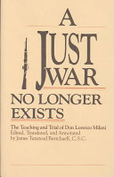 A Just War No Longer Exists