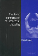 The Social Construction of Intellectual Disability