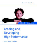 Leading and Developing High Performance