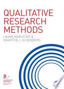 Qualitative Research Methods Book