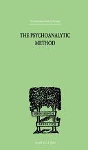 Pdf The Psychoanalytic Method Telecharger