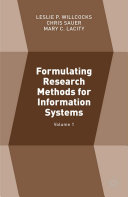 Formulating Research Methods for Information Systems Pdf/ePub eBook