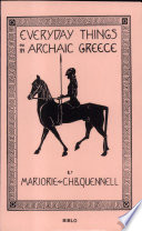 Everyday Things in Archaic Greece