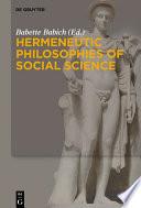 Hermeneutic Philosophies of Social Science