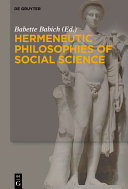 Pdf Hermeneutic Philosophies of Social Science Telecharger