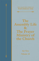 The Assembly Life & The Prayer Ministry of the Church Pdf/ePub eBook