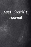 Asst  Coach s Journal Chalkboard Design
