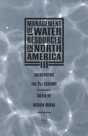 Management of Water Resources in North America III