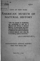 Annual Report of the American Museum of Natural History Book PDF