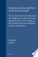 Studies On The Second Part Of The Book Of Isaiah