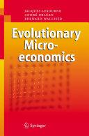 Pdf Evolutionary Microeconomics Telecharger