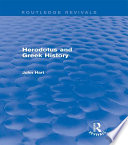 Herodotus and Greek History  Routledge Revivals