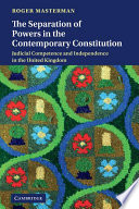 The Separation Of Powers In The Contemporary Constitution