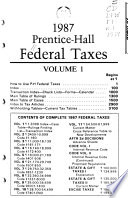 Prentice-Hall Federal Taxes