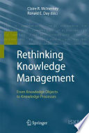 Rethinking Knowledge Management Book