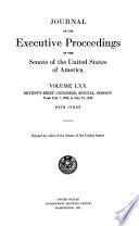 Journal of the Executive Proceedings of the Senate of the United States of America Book