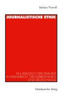 Journalistische Ethik