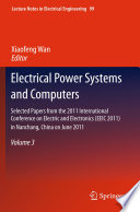 Electrical Power Systems And Computers Book PDF