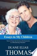 Essays To My Children Book