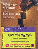 Statistical Methods for Psychology Book